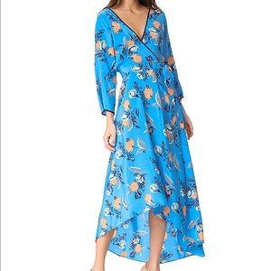 Diane Von Furstenberg Asymmetrical Hem Wrap Dress
